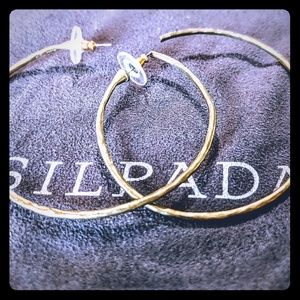 "Silpada ""Athena"" hoop earrings. KR collection."